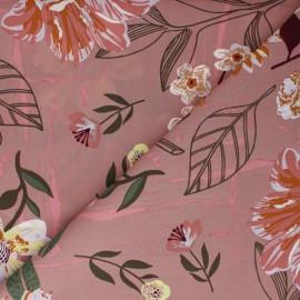 Tissu coton Rico Design Flower fragrance - vieux rose x 10cm