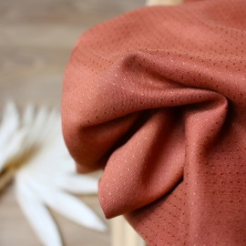 Viscose fabric Atelier brunette -  Dobby Chestnut x 10cm