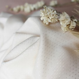 Tissu viscose Atelier Brunette - Dobby Off white x 10cm