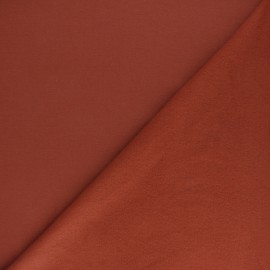 Plain sweatshirt fabric - Vermilion x 10cm