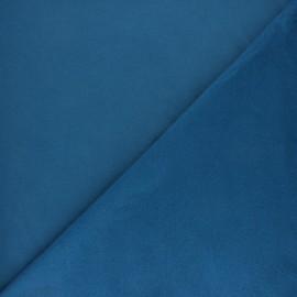 Plain sweatshirt fabric - Swell blue x 10cm