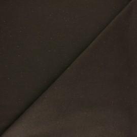 Tissu sweat moucheté - marron x 10cm