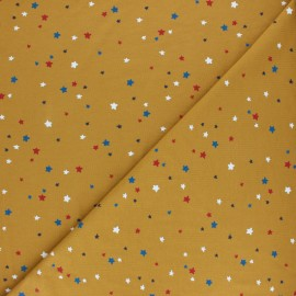 Poppy Jersey fabric - Mustard To the stars and back x 10cm