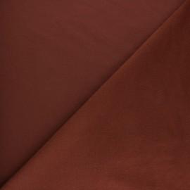 Plain sweatshirt fabric - Red brick x 10cm