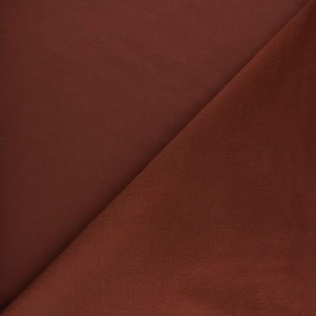 Tissu sweat molletonné uni - Tomette x 10cm