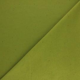 Speckled sweatshirt fabric - avocado x 10cm