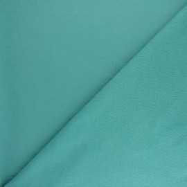 Plain sweatshirt fabric - Lagoon x 10cm