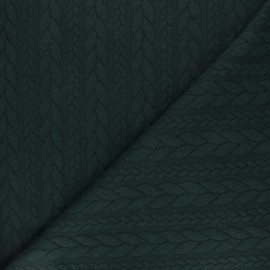 Twist jersey fabric - Dark green x 10cm