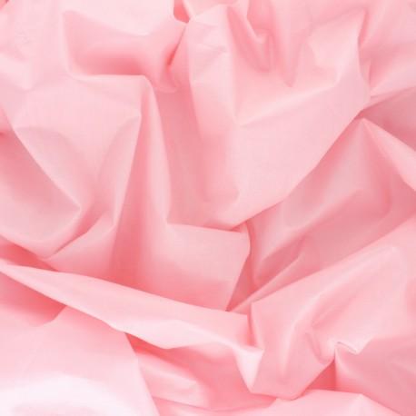 Tissu Popeline craquante uni - Rose x 10 cm
