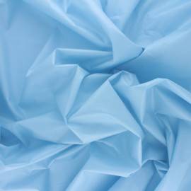 ♥ Coupon 30 cm X 145 cm ♥ Tissu Popeline craquante uni - Bleu ciel
