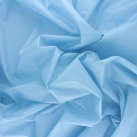 Tissu Popeline craquante uni - Bleu ciel x 10 cm