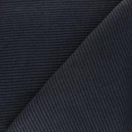 Tissu jersey tubulaire bord-côte 3/3 - bleu marine chiné  x 10cm