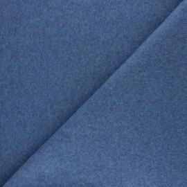 Tissu Bio Polaire Coton - bleu jean x 10cm
