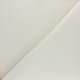 Tissu Bio Polaire Coton - blanc cassé x 10cm