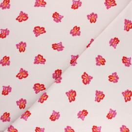 Tissu jersey MEZfabrics Nordic Garden - Sverdlije blanc x 10cm