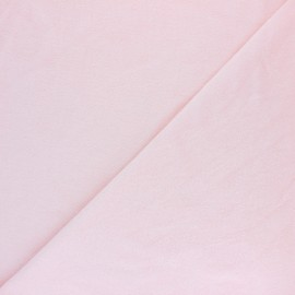 Tissu éponge jersey - rose pâle x 10cm