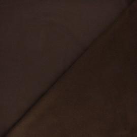 Plain sweatshirt fabric - Brown x 10cm