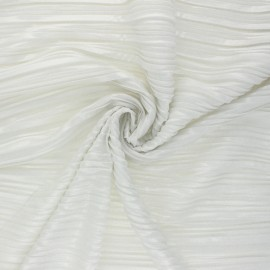 Pleated Polyester Fabric - white Florence x 10cm