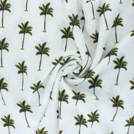 Viscose Fabric - white Palm grove x 10cm