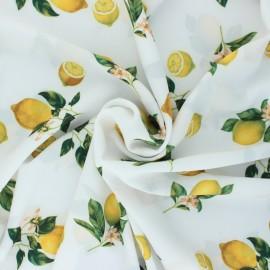 Tissu crêpe léger élasthanne Limón - blanc x 10cm