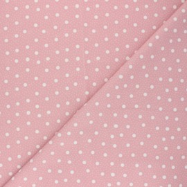 Tissu Lycra Maillot de bain Pois pastel - rose x 10cm