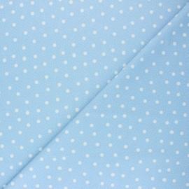 ♥ Coupon 190 cm X 150 cm ♥  Swimsuit Lycra fabric - blue Pois pastel