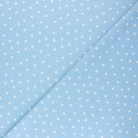 Swimsuit Lycra fabric - blue Pois pastel  x 10cm