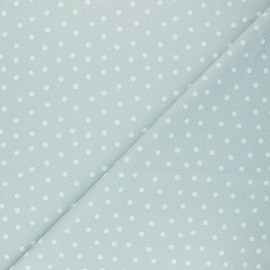 Swimsuit Lycra fabric - sea green Pois pastel  x 10cm
