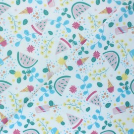 Swimsuit Lycra fabric - white Watermelon & co x 10cm