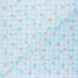Tissu Lycra Maillot de bain Sea star - bleu x 10cm