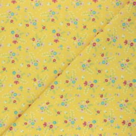 Swimsuit Lycra fabric - yellow Sunny flower x 10cm
