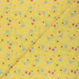 Tissu Lycra Maillot de bain Sunny flower - jaune x 10cm