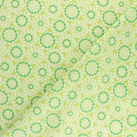 Cotton Dashwood Studio fabric Belle époque - green Rosace x 10cm