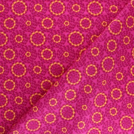 Cotton Dashwood Studio fabric Belle époque - pink Rosace x 10cm