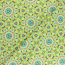 Cotton Dashwood Studio fabric Belle époque - Symmetrical flower x 10cm