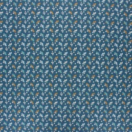Coated cretonne cotton fabric - blue Fiduo x 10cm