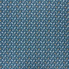 Tissu coton cretonne enduit Fiduo - bleu x 10cm