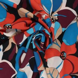 Tissu viscose Amalia - bleu x 10cm