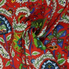 Crinkle viscose Fabric - Red Zohra x 10cm