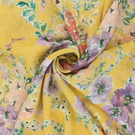 Tencel fabric - yellow Giulia x 10cm