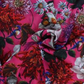 Polyester satin fabric - fuchsia Marcia x 10cm
