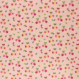Poppy Coated cretonne cotton fabric - pink Yummy cherry x 10cm