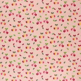 Tissu coton cretonne enduit Poppy Yummy cherry - rose x 10cm