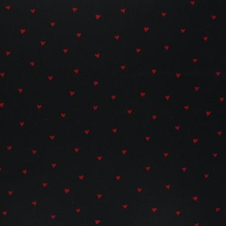 Tissu coton cretonne enduit Poppy You're a sweetheart - noir x 10cm