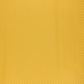 Poppy Coated cretonne cotton fabric - yellow Petit dots x 10cm