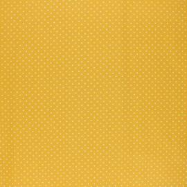 Tissu coton cretonne enduit Poppy Petit dots - jaune x 10cm