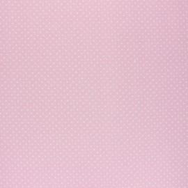 Tissu coton cretonne enduit Poppy Petit dots - rose x 10cm