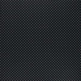Poppy Coated cretonne cotton fabric - black Petit dots x 10cm