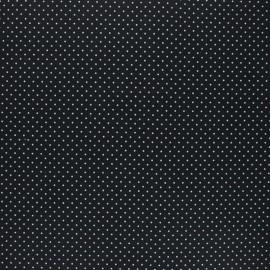 Tissu coton cretonne enduit Poppy Petit dots - noir x 10cm