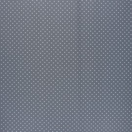 Poppy Coated cretonne cotton fabric - grey Petit dots x 10cm